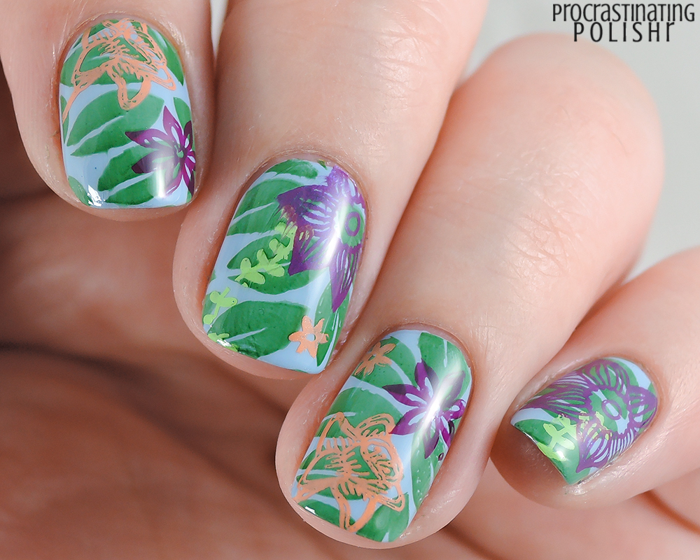 The Lacquer Ring - Beach/Tropical Nail Art - Procrastinating Polishr