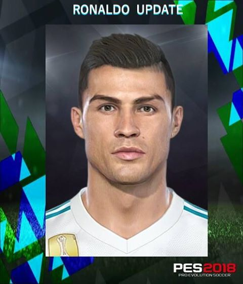 PES 2018 Ronaldo V2 Update Face by Messipradeep