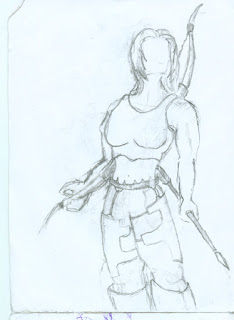 Stylized  Female Archer drawing