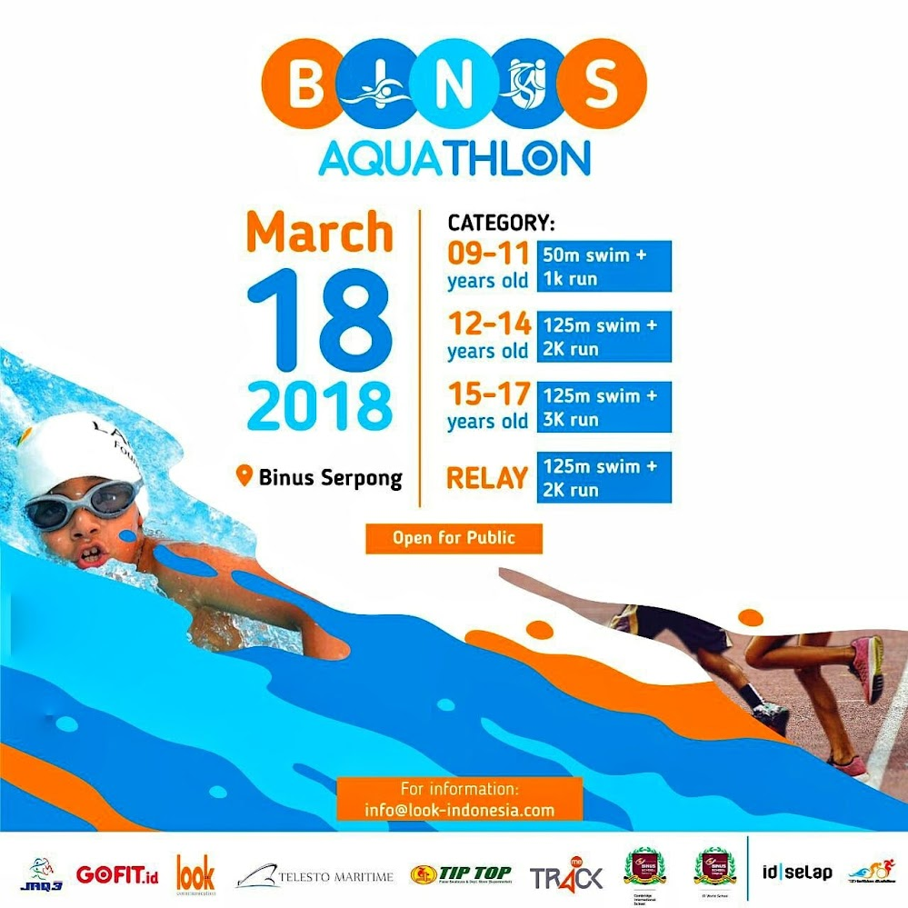 Binus Aquathlon Route 2018