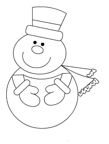 Tranh tô màu người tuyết đơn giản