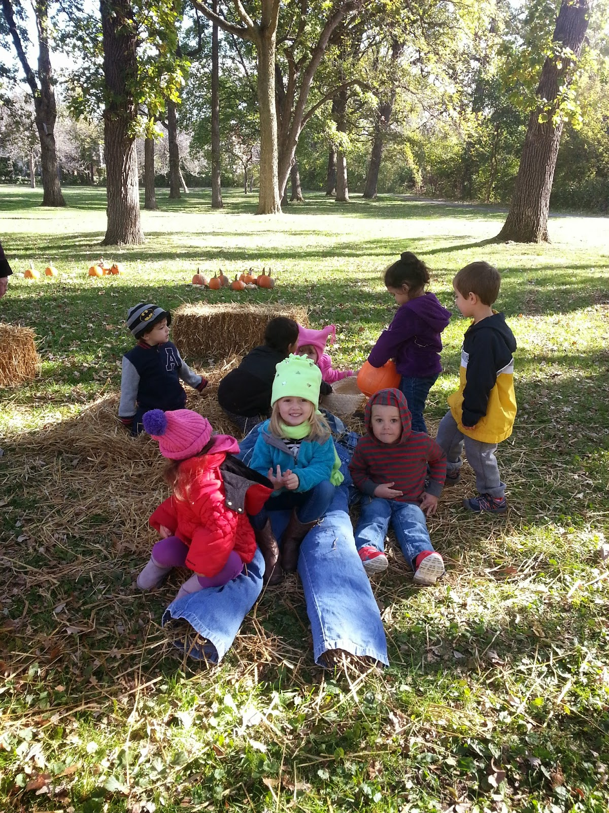 Our Scarecrow At Fall Festival