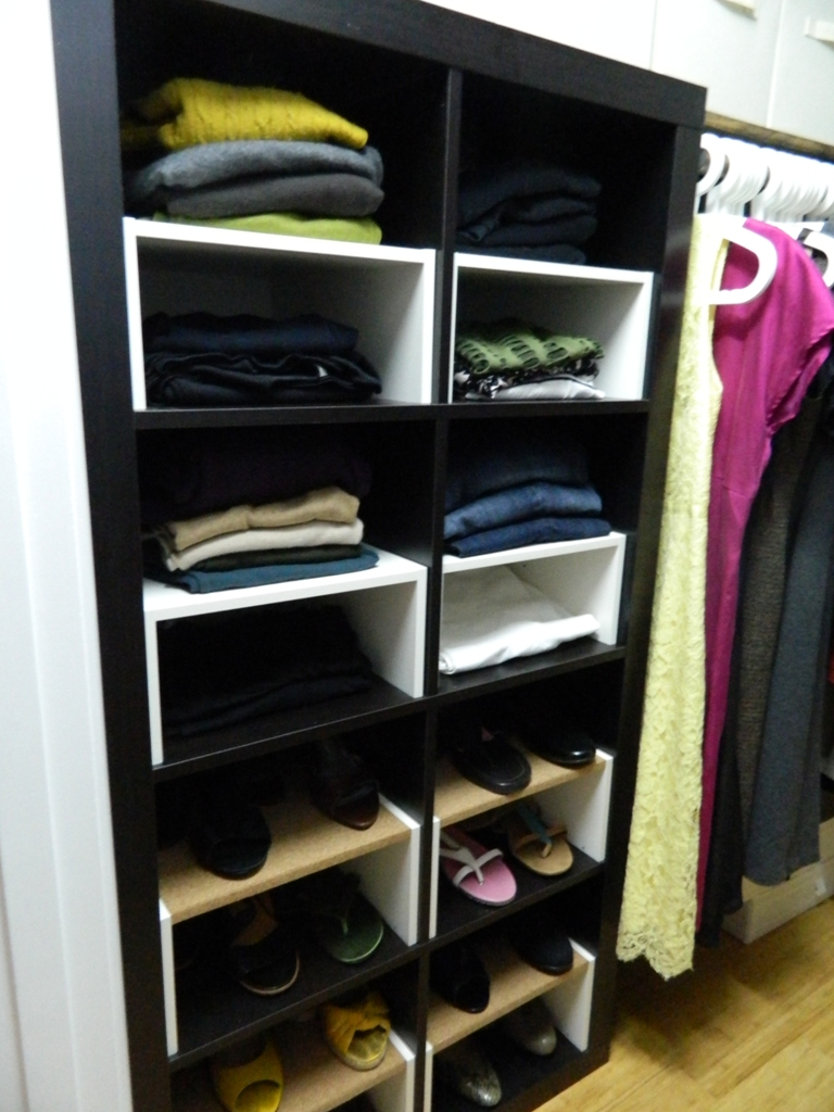 Ikea Hack Expedit Inserts For The Closet