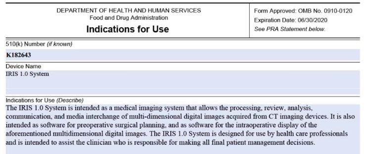 Intuitive's IRIS 1 0 Medical Image Processing Software