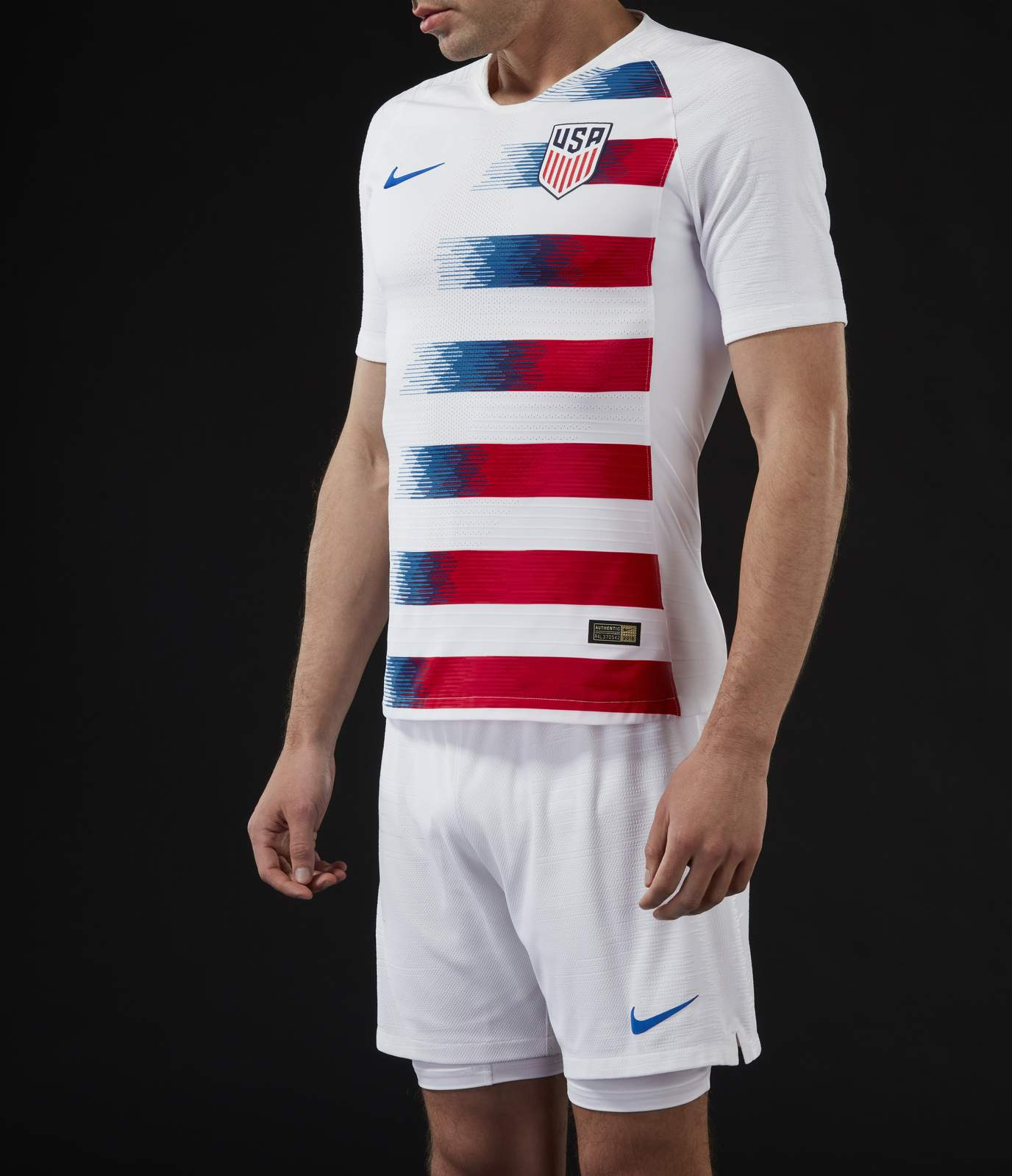 30cb166f2f3 The USA 2018 home kit leaves behind the rather uninspired 2016 and 2017  designs for a much more unique and personal look. The base color of the USA  2018 ...