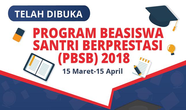 Juknis Pendaftaran Program Beasiswa Santri Berprestasi 2018