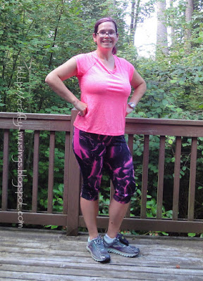 Duathlon Shorts, pink capris, full front view