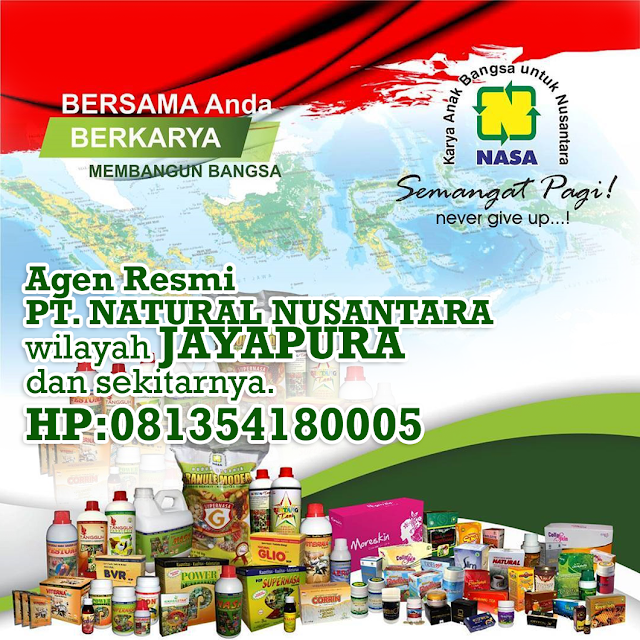Alamat Distributor/Agen Resmi NASA Wilayah Jayapura,Papua dan Sekitarnya