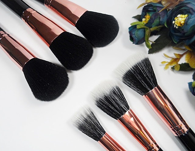 full professional makeup brush set faux leather case beauty blogger review liz breygel