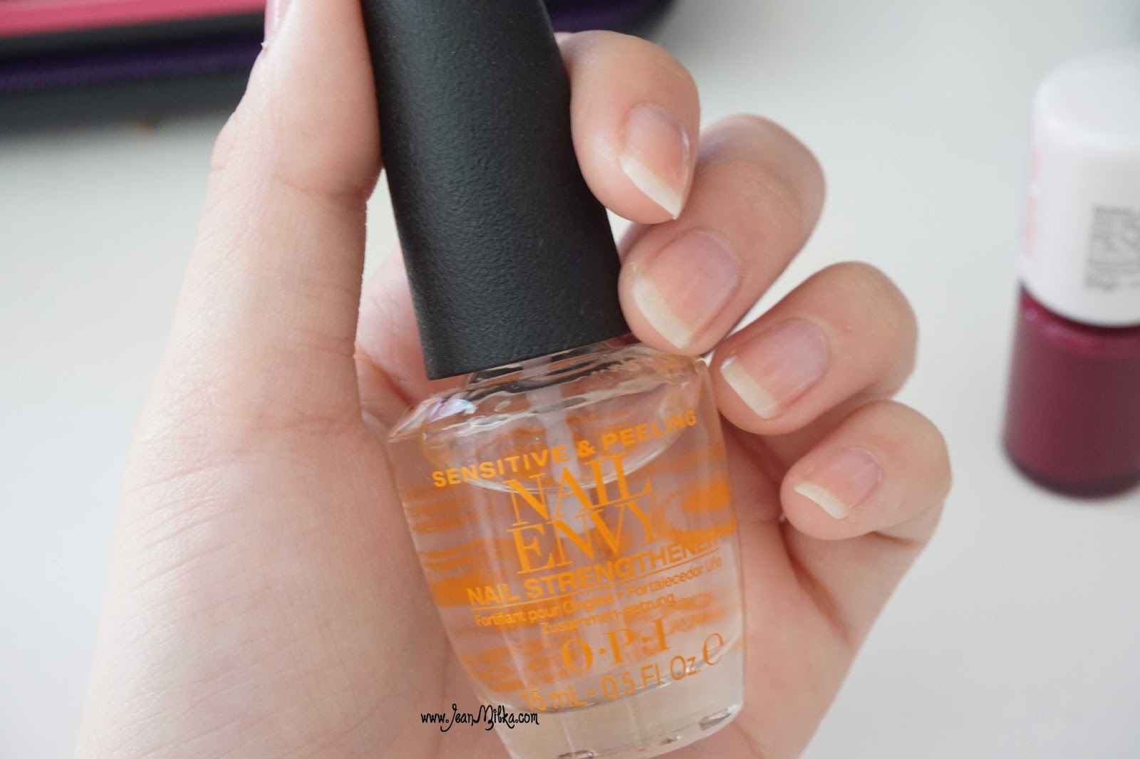 opi nail envy swatch review
