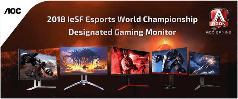 AGON gaming monitors are renowned by esport leagues such as the IeSF