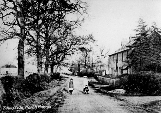 Photograph of Sunnyside Cottages, Dixons Hill Road, 1900s on the corner of Station Road