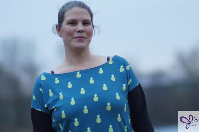 Stoff von Meterlimit - Schnitt Kaidso Onlinekurse - Shirt Maritim - Shirtkleid Segue - Selfmade Short Dress - Designnähen