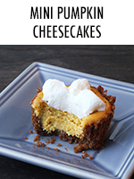 Teeny. Tiny. Delicious. Served with whipped topping in a graham cracker crust.