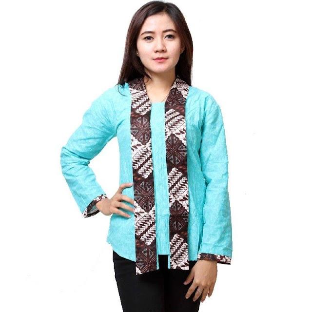 Model Busana Batik Kerja Wanita Terbaru