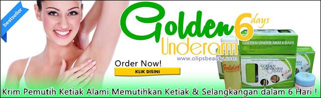 Jual Golden UnderArm - Krim Pemutih Ketiak dan Selangkangan Alami Terbaru 2016