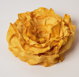 Faux Suede Singed Rose Flower