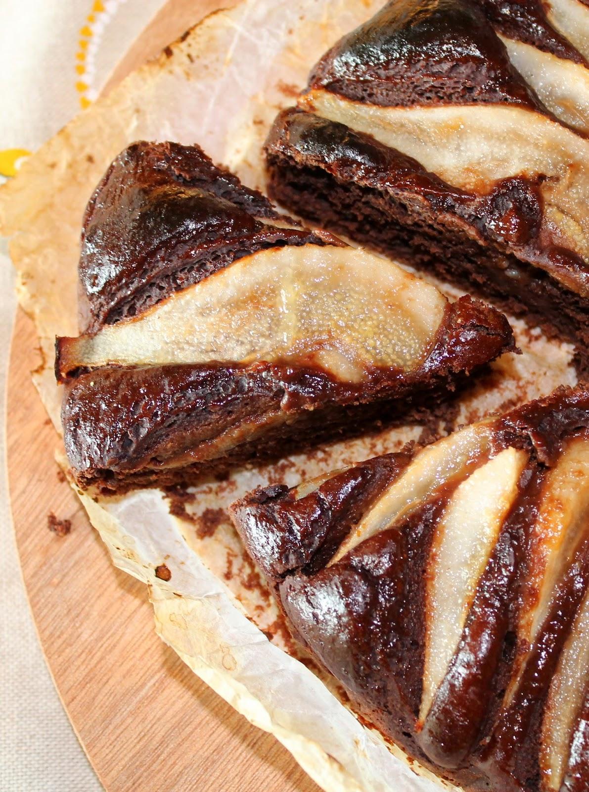 Torta Cioco-Pera Leggerissima... senza Latte e  senza Uova!!