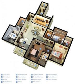 rumah banglo 4 bilik