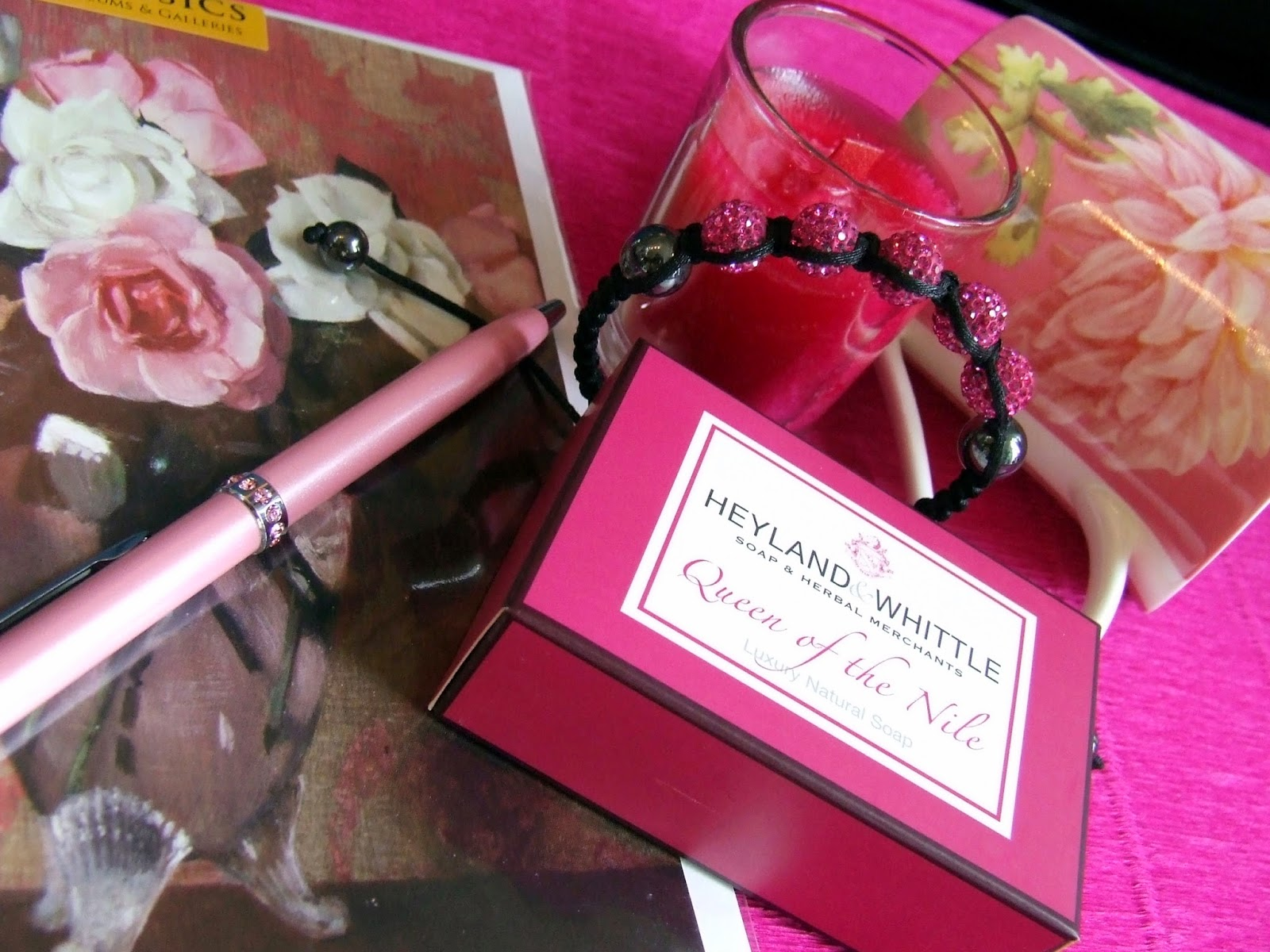 Selection of gifts in pink colour