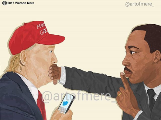 Martin Luther King As Art