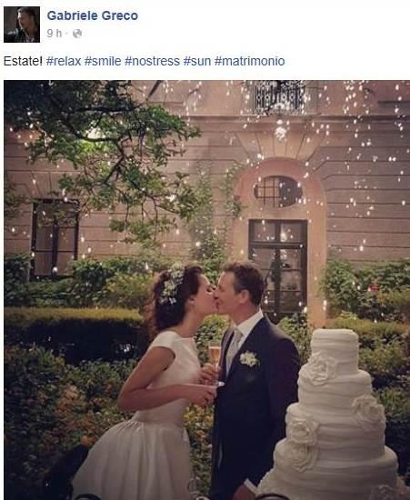 Auguri Matrimonio Greco : Gabriele greco tra fiction e realtà i più cari