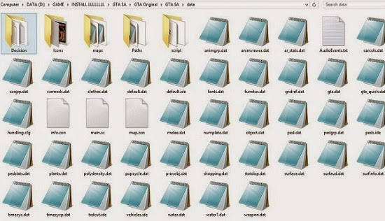 Data Backup Folder GTA SA