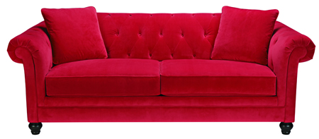 image of a red couch