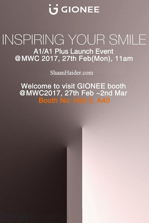 Gionee A1 and A1 Plus - MWC 2017 Launch Event