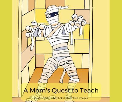 Cartoon image of a mummy