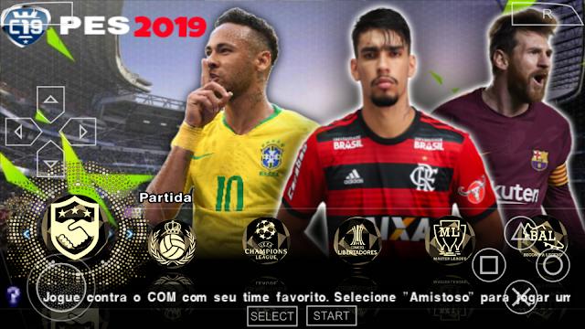 SAIU!! PES 2019 NOVO PATCH COM BRASILEIRÃO e EUROPEU ATUALIZADO PPSSPP/PSP/PC/ANDROID
