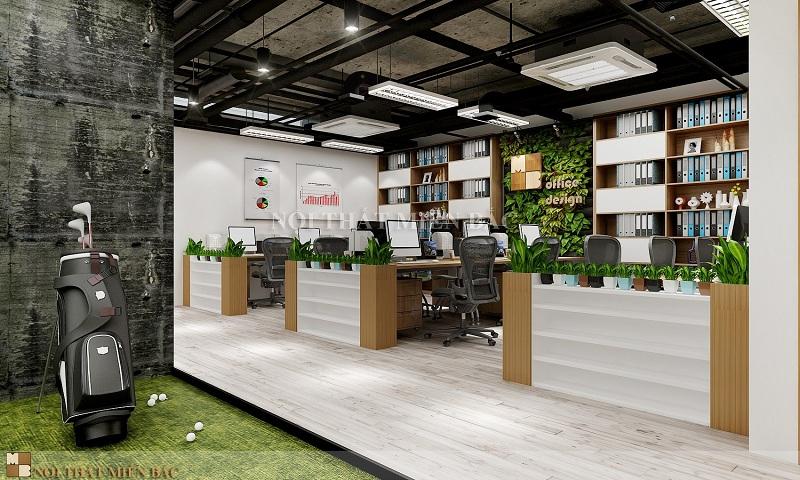 Thiết kế văn phòng Hà Nội với không gian xanh