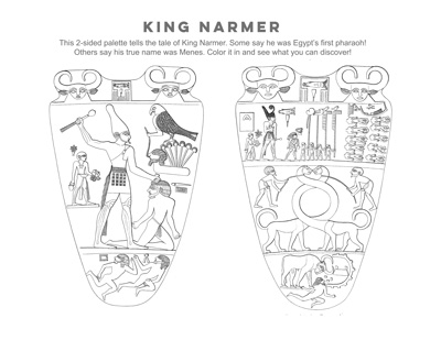 ng Narmer coloring page activity