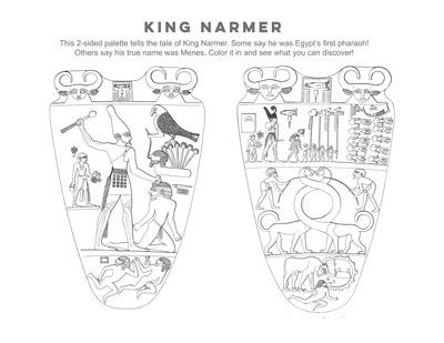 Narmer Palette Coloring Page Printout