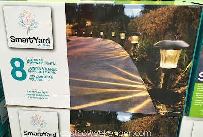 Make your home's entrance well lit with the SmartYard LED Solar Pathway Lights model 10193