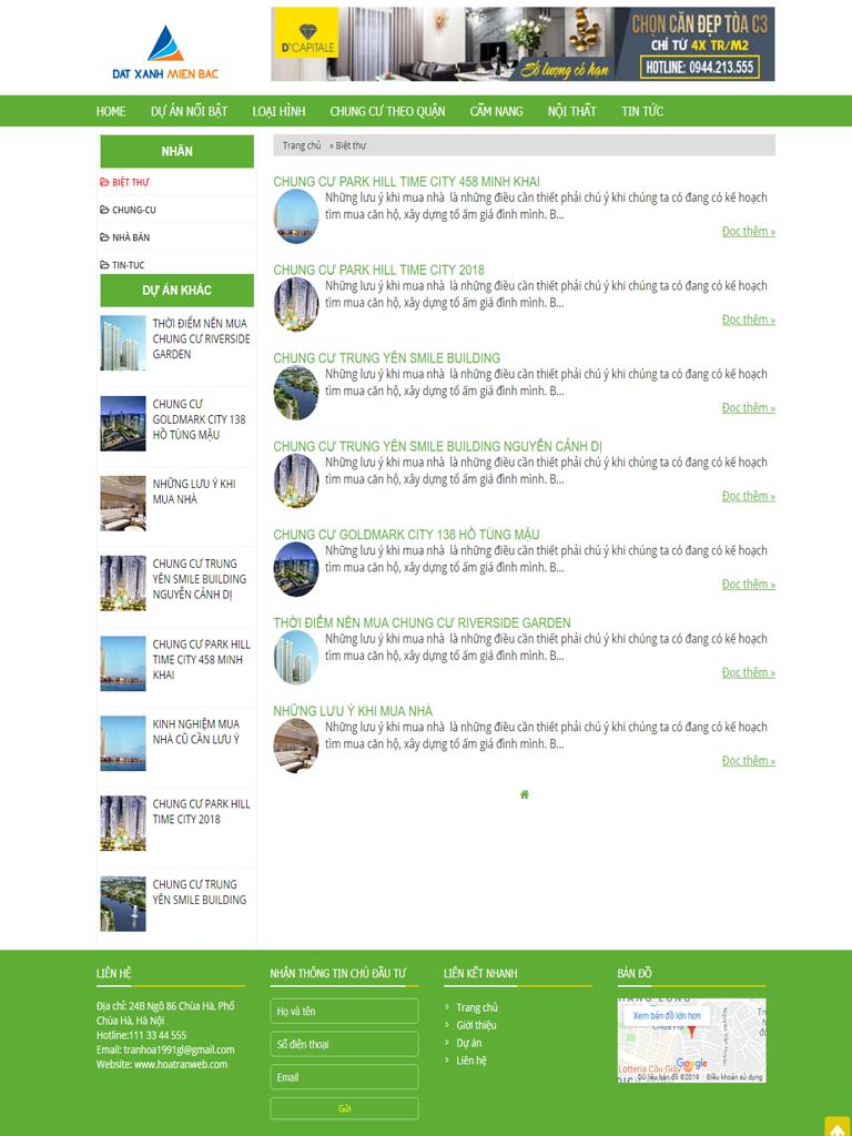 Template blogspot bất động sản nhà đất đẹp - Ảnh 2
