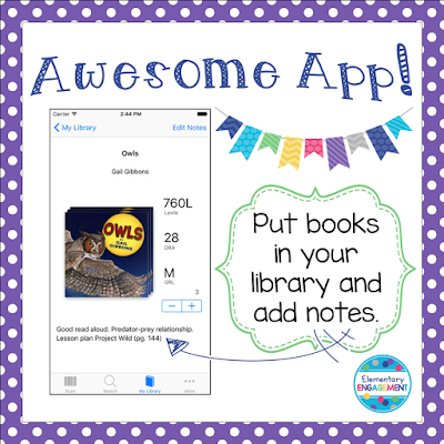 This app instantly levels your books!  It also keeps a record of all the books in your library.