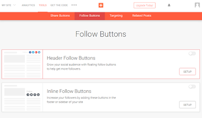 how to add follow buttons in blogger header