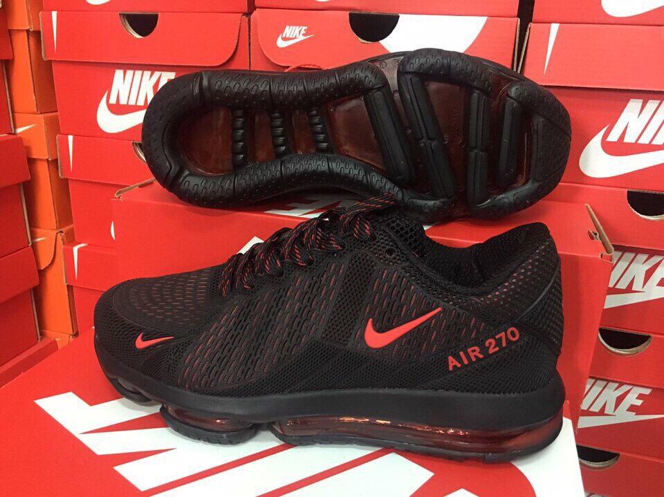 Giày Nike Nam Air Max 270 Đen Đỏ Size 40