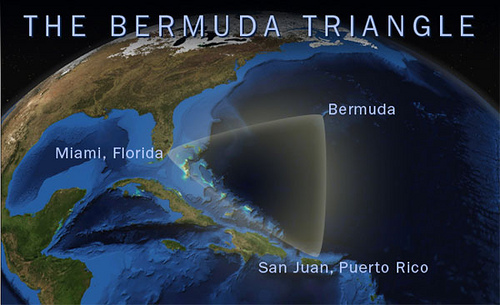 bermuda triangle satellite view