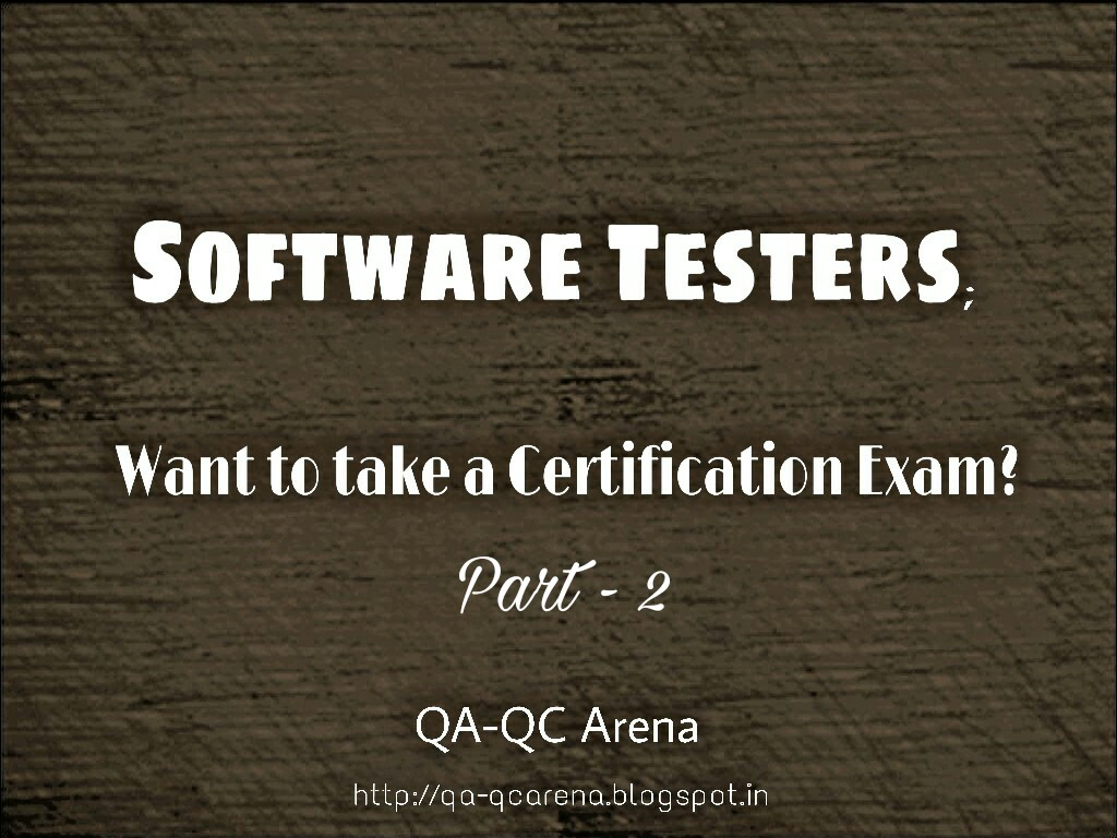 Qa Qc Arena Quality Assurancequality Control Certifications Part 2