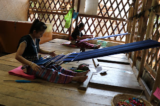 The Karen Ladies Making garments in Karen Village