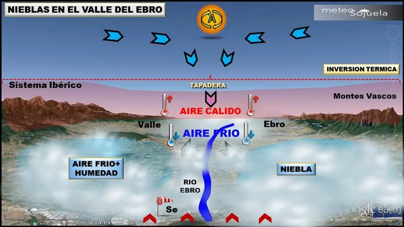 Nieblas en el valle del Ebro ¿Por qué se forman?