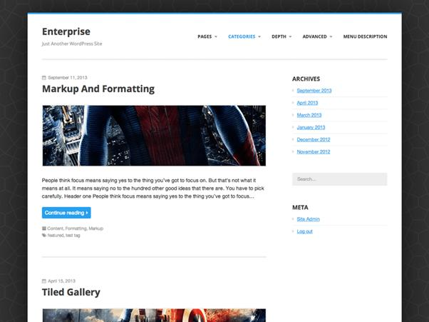 Enterprise Lite Wp THeme
