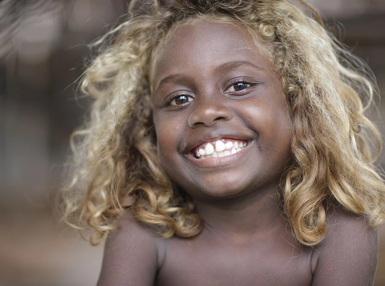 Mind-Blowing Pictures Of Melanesians, The Only Natural Black Blondes On Earth