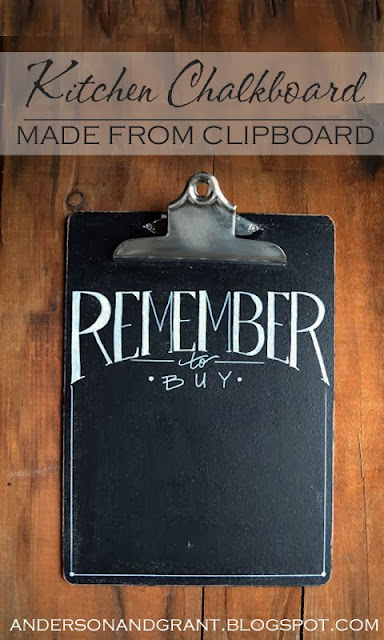 Easy to make DIY chalkboard. Where would you hang it?!