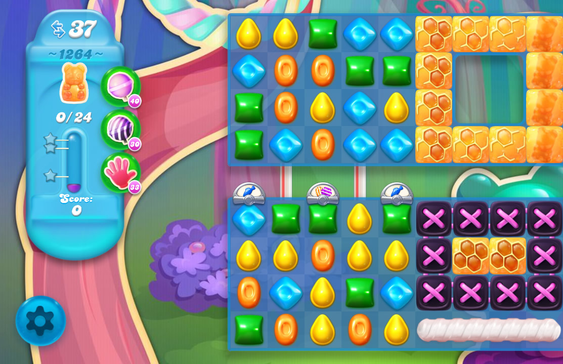 Candy Crush Soda Saga level 1264