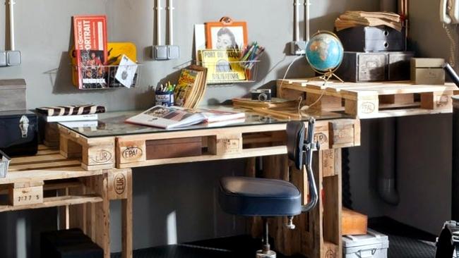 pallet office furniture. Pallet Office Desk, Mallorca, Furniture Meuble Pallet, Mallorca L