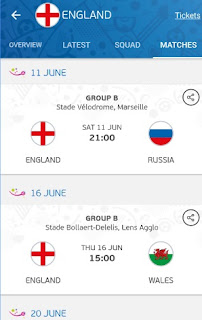 UEFA Euro 2016 Official App Match Schedule