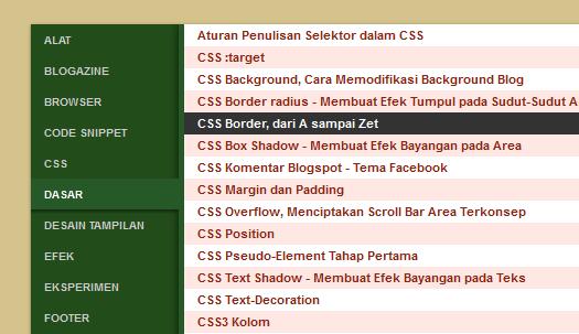 Tạo SiteMap dạng bảng kiểu 2 cho Blogger